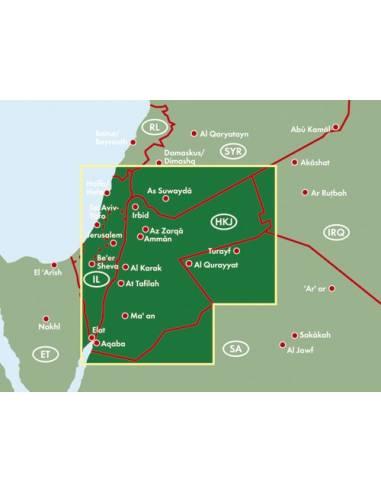 Jordánia térkép