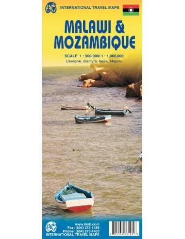 Malawi & Mozambique térkép