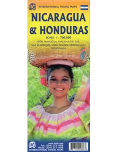 Honduras & Nicaragua térkép