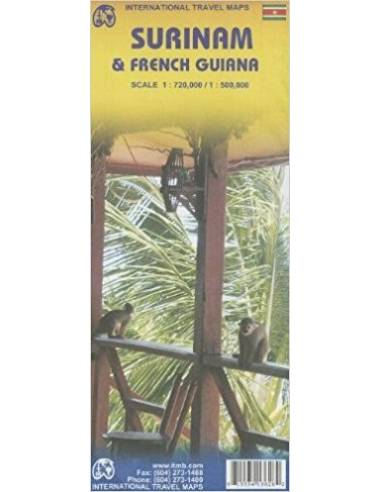 Suriname & French Guiana térkép