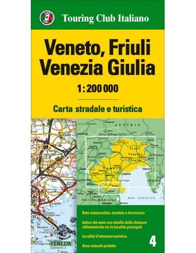 Veneto, Friuli Venezia Giulia 4 térkép