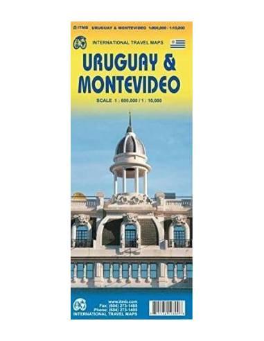 Uruguay & Montevideo térkép