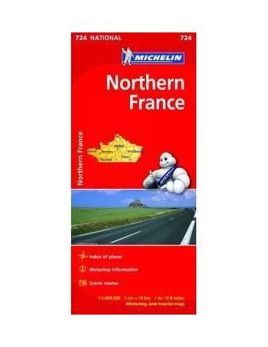 MN 724 Franciaország Észak térkép -...