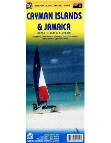 Jamaica & Cayman Islands térkép