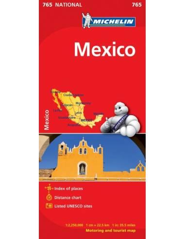 MN 765 Mexikó - Mexico térkép