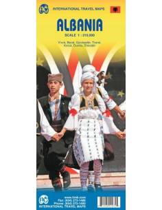 Albánia térkép