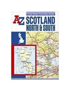 Skócia térkép (A-Z) (North...