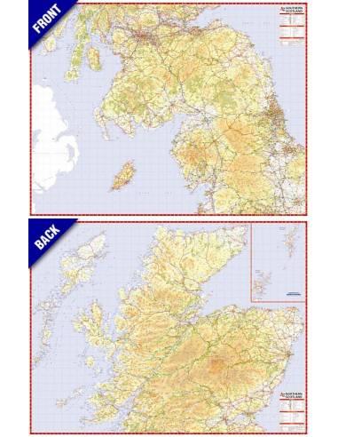 Skocia Terkep A Z North And South