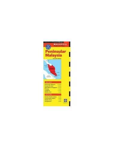 MALAYSIA - MALAJZIA TÉRKÉP