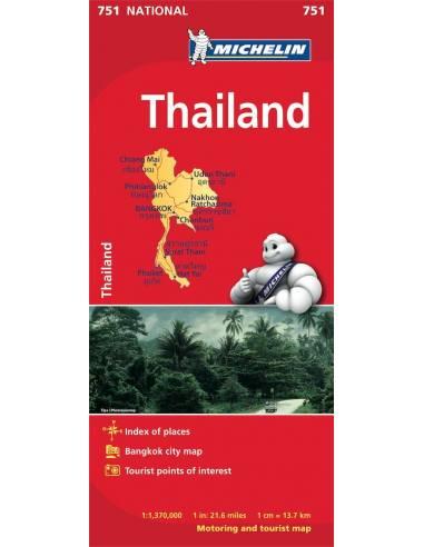 MN 751 Thailand - Thaiföld térkép