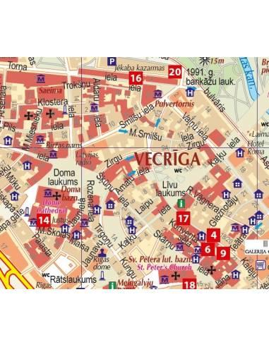 Riga várostérkép közlekedéssel