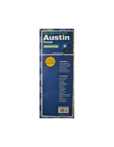 Austin térkép fóliázott