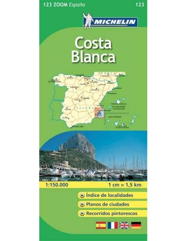 MN 123 ZOOM Costa Blanca térkép