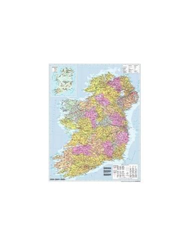 Írország közigazgatása falitérkép