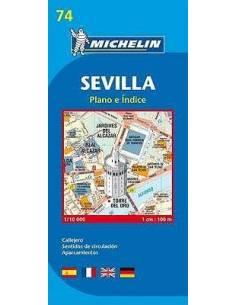 MN 74 Sevilla térkép
