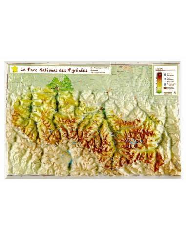Pireneusok Nemzeti Park dombortérkép