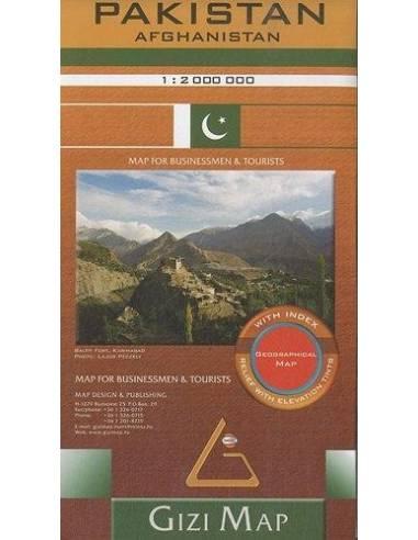 Pakisztán - Afganisztán domborzati...
