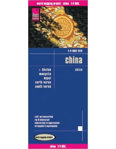 RKH China - Kína térkép