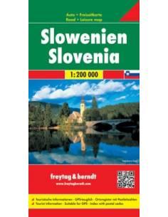 Slovenia - Szlovénia térkép