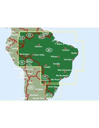 Brazília térkép