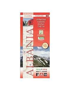 Albánia 8. Vlora turistatérkép