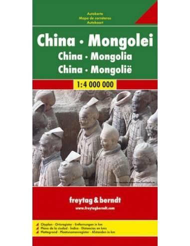 Kína / Mongólia térkép