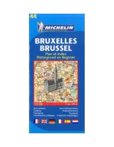 MN 44 Brüsszel térkép - Bruxelles
