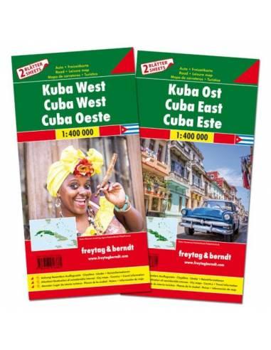 Kuba észak és dél térkép csomag
