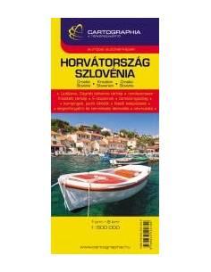 Horvátország, Szlovénia térkép