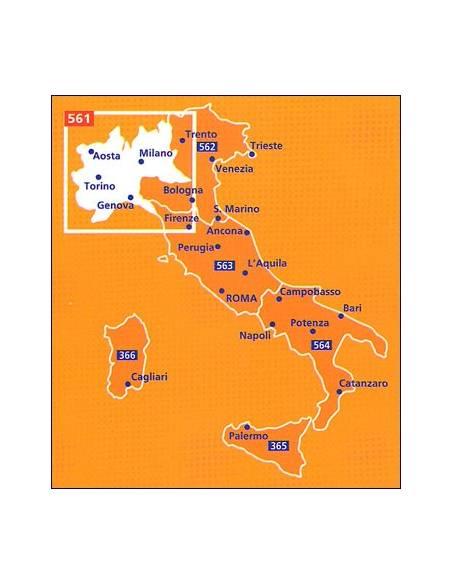 Mn 561 Olaszorszag Eszak Nyugat Terkep Italy Northwest