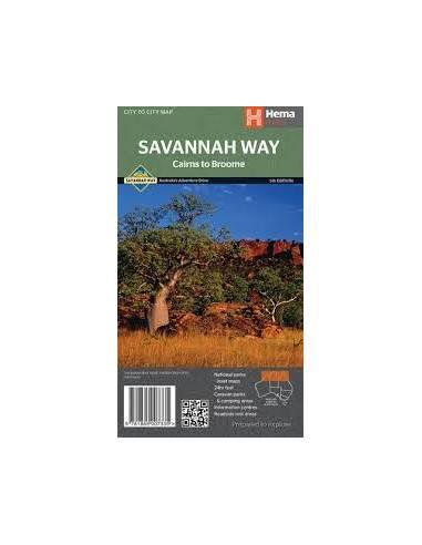 SAVANNAH WAY TÉRKÉP (CAIRNS TO BROOME)