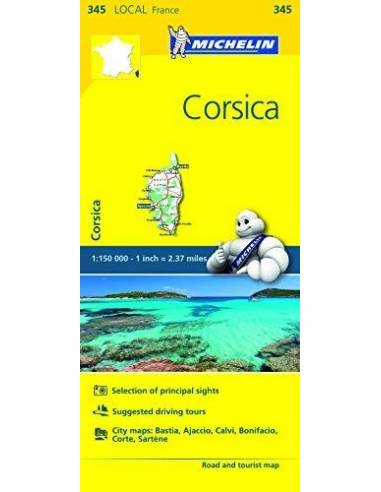 MN 345 Corsica - Korzika térkép