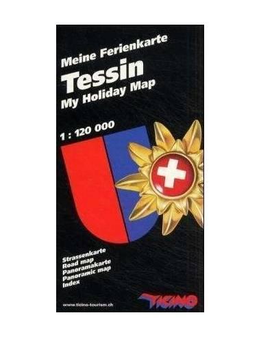 Tessin - Ticino szabadidő térkép...