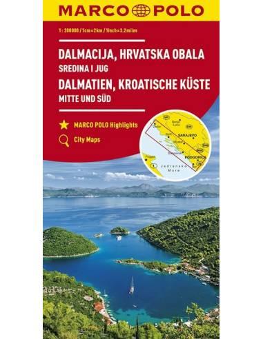 Dalmácia, Horvát tengerpart közép és...
