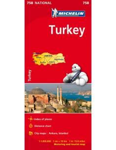 MN 758 Törökország térkép
