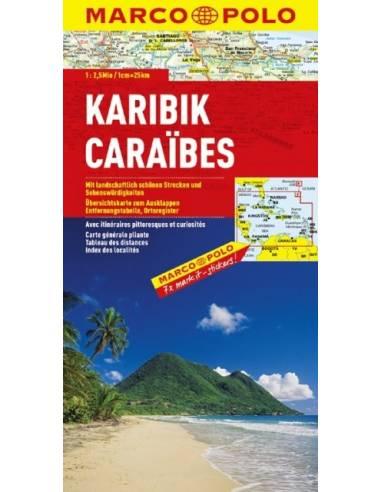 Karib-szigetek térkép - Marco Polo