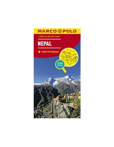 Nepál ZOOM autótérkép - MARCO POLO