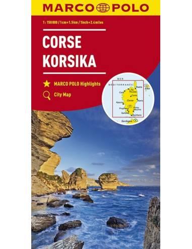 Corse - Corsica - Korzika térkép -...