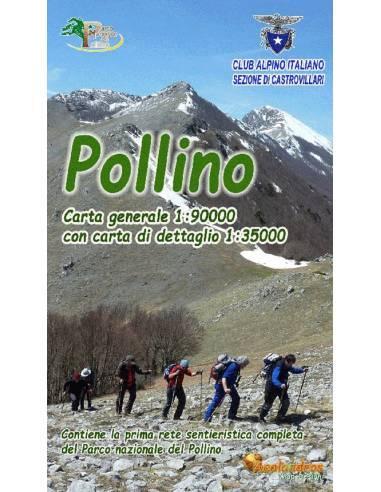 Pollino Nemzeti Park turista térkép