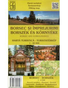 Borszék és környéke térkép