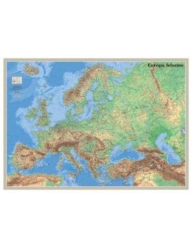 Európa felszíne-domborzata falitérkép