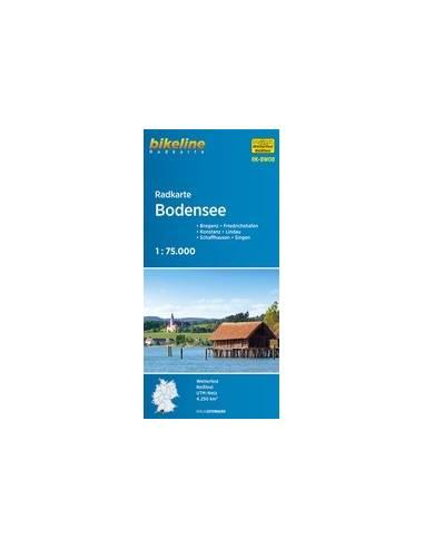 Bodensee fóliázott kerékpártérkép