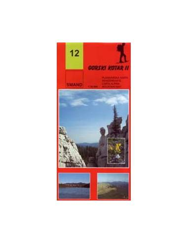 S 12 Gorski Kotar 2. turista térkép