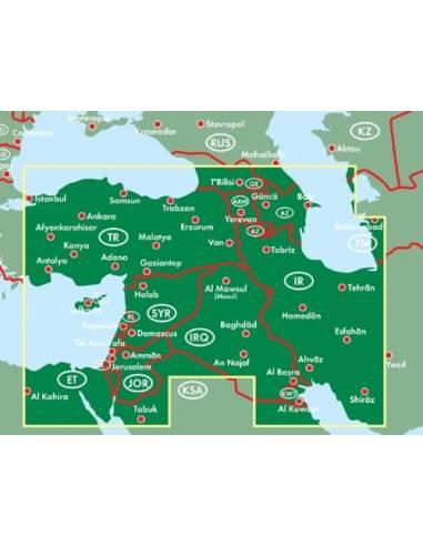 Közel-Kelet térkép - Naher Osten -...