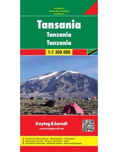 Tanzánia térkép