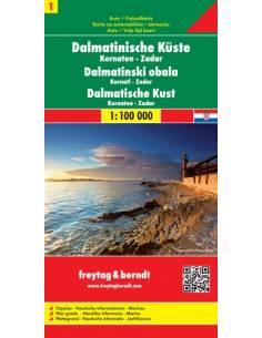 Dalmát tengerpart 1: Kornaten-Zadar térkép
