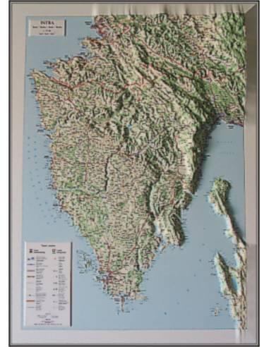 Isztria-félsziget dombortérképe