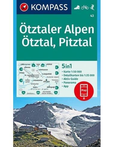KK 43 Ötztaler Alpen, Ötztal, Pitztal...