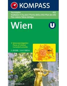 KK 432 Bécs túra térkép