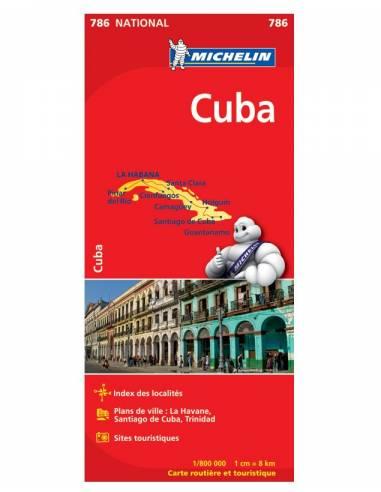 MN 786 Cuba - Kuba térkép